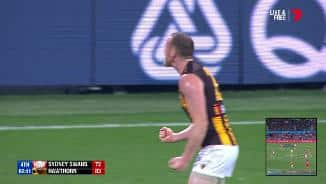 The sealer: Roughead screams with joy
