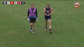 Fyfe limps off with hamstring injury