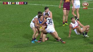 Crows not happy with umpire overrule