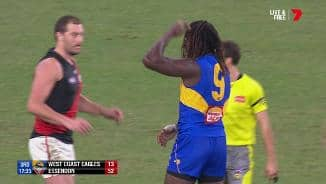 Nic Nat down after off-the-ball contact