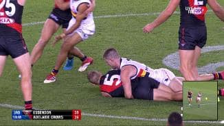 Umpire confusion over contentious tackle