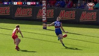 Gowers dribbles it through (Rd7)