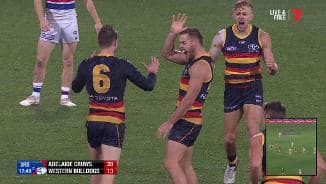 First goal in footy and a strange celebration