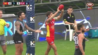 Good luck kicking this deflated Sherrin, Jarrod