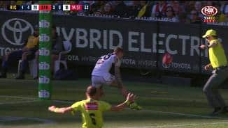 Steele does just that and Membrey strikes