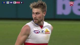 Six days after becoming a dog, Gardner kicks debut goal