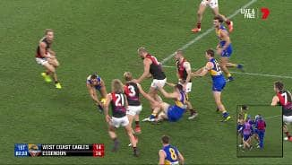 Is Bellchambers in trouble for this bump on Shuey?