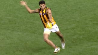Rioli busts a move and delivers to Hodge