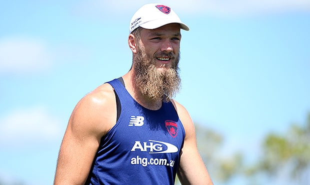 Max Gawn says Melbourne's young ruckmen are making progress (Photo: Matt Goodrope)