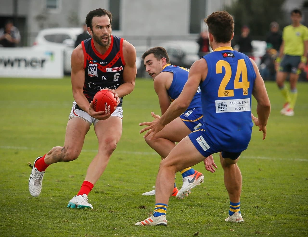 Jordan Lewis was reported in the VFL on Sunday. (Photo by Adam McFarlane) - VFL