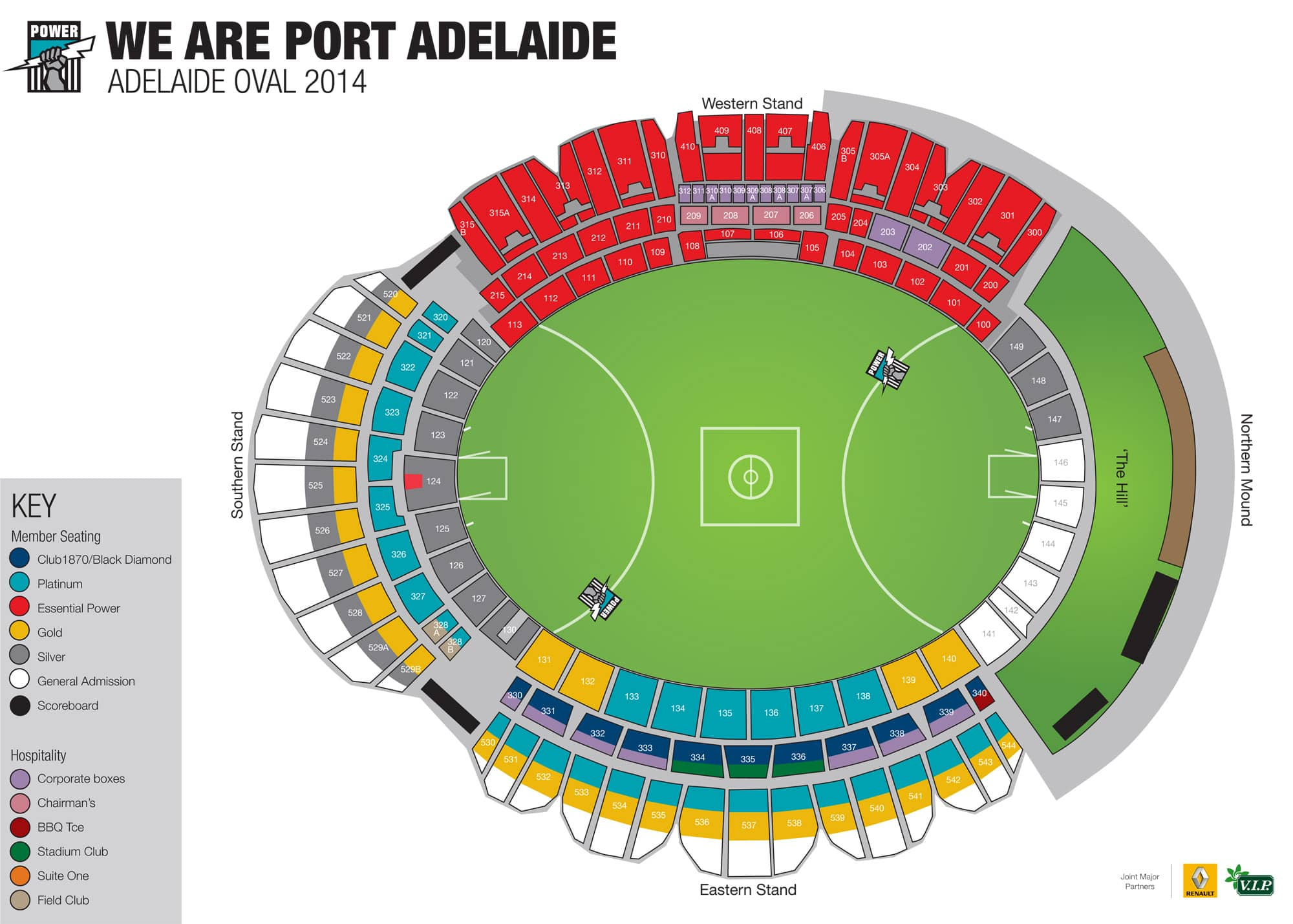 Adelaide Oval Seating Map Adelaide Oval update   August 9   portadelaidefc.com.au Adelaide Oval Seating Map