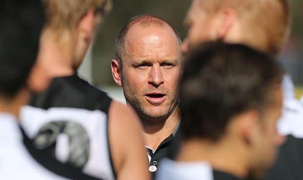 Chad Cornes at the Round 5 SANFL game between Port Adelaide and Central District [pic: Chris Kelly/portadelaidefc.com.au]