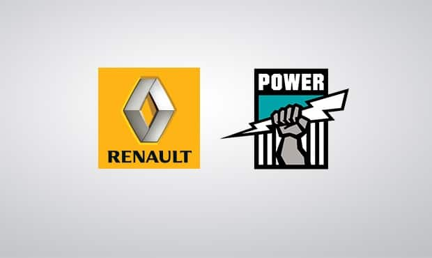 Renault has joined the Port Adelaide Football Club as a joint major partner from 2013