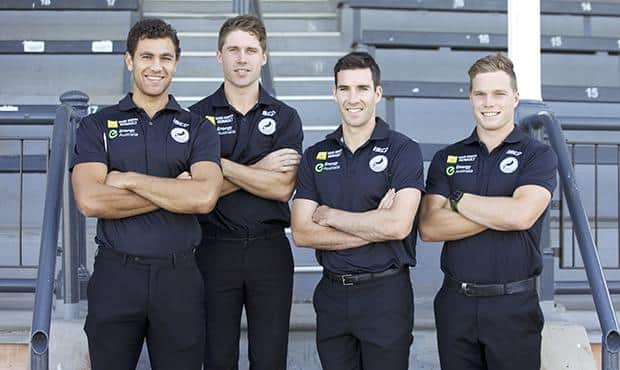 Port Adelaide's 2014 SANFL leadership group.