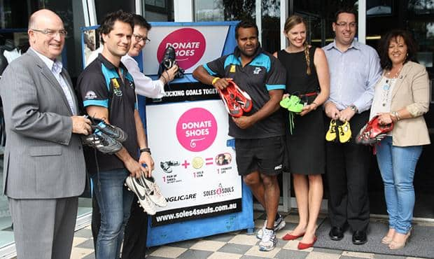 Power Community Ltd joins with Anglicare SA and Soles4Souls to launch its donation campaign.