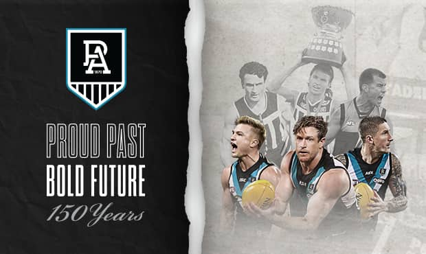 Port Adelaide launch 150th anniversary season with commemorative logo