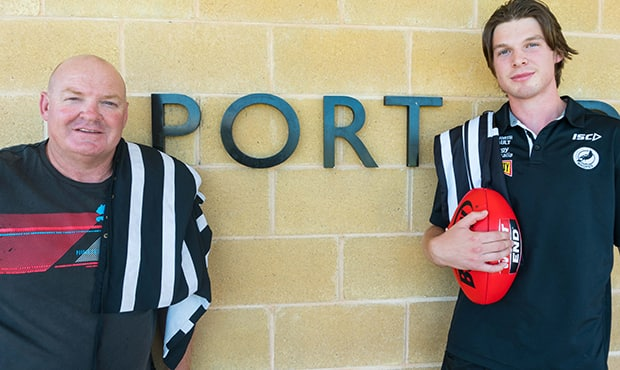 Wayne Mahney and Adam Mahney are all about Port. [pic: PAFC]