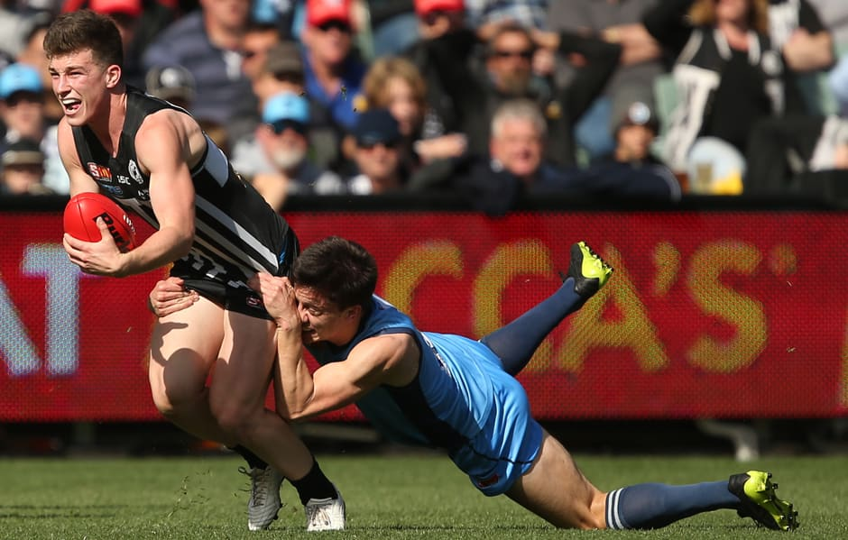 The Port Adelaide Magpies have secured a double chance in September and will take on the Adelaide Crows in the Qualifying Final during Week 1 of the SANFL Finals Series. - SANFL,Port Adelaide Magpies