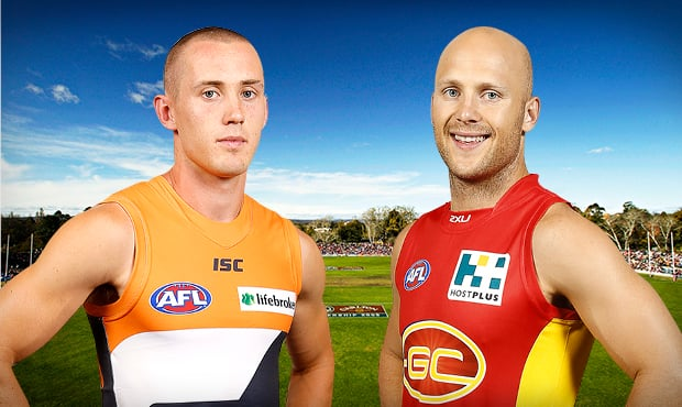 The rivalry continues between the AFL's newest clubs at StarTrack Oval in Canberra