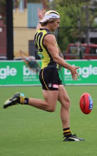 Dan Butler at Richmond training on Wednesday afternoon