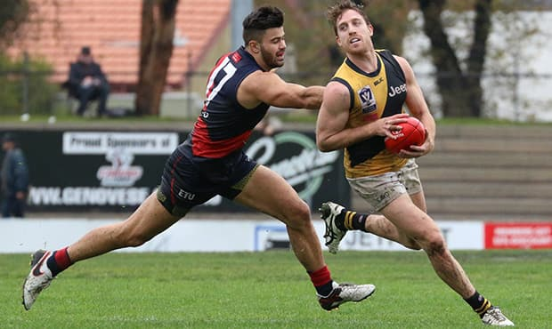 Reece Conca wins one of his 32 touches against Coburg on Sunday afternoon (Photo: Cameron Grimes Photography)