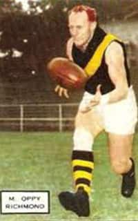 Max Oppy was one of Richmond's best in the 1943 Grand Final win