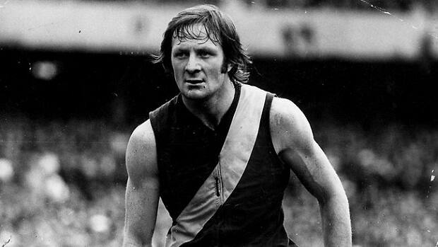 Kevin Sheedy played in three premierships over 251 games in the No. 10 guernsey