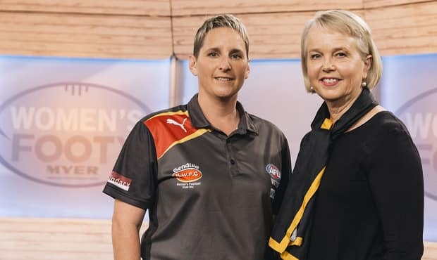 Richmond President Peggy O'Neal with Bendigo Thunder coach Cherie O'Neill in March.