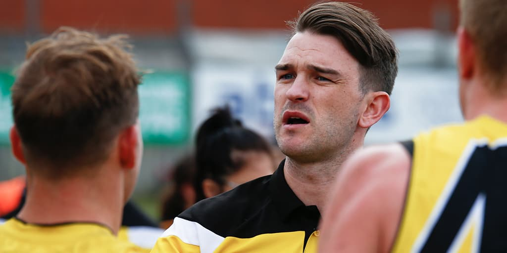 Tom Hunter with the Richmond VFL side in 2017