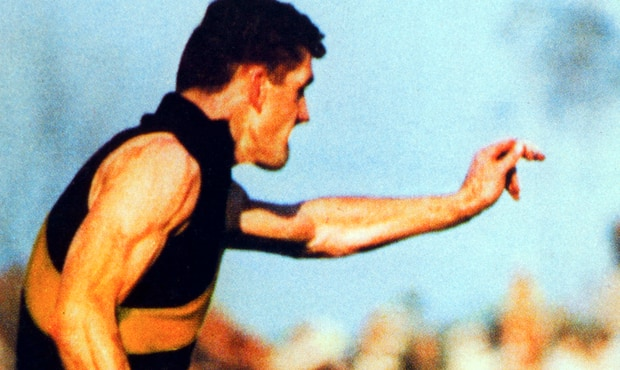 Paddy Guinane played 146 games and kicked 216 goals for the Tigers in a career spanning 11 seasons.