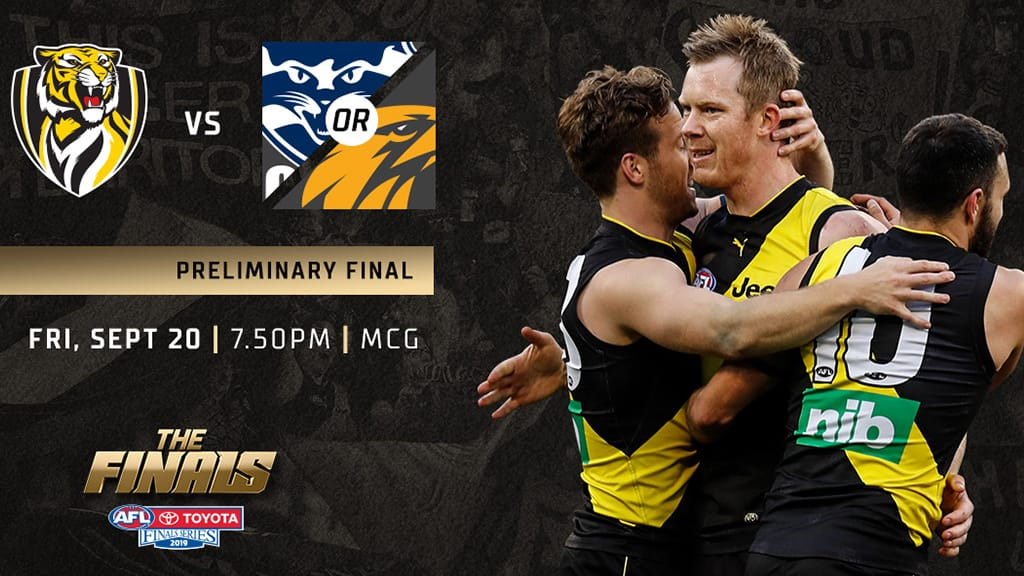 Tigers to host MCG preliminary final - richmondfc com au