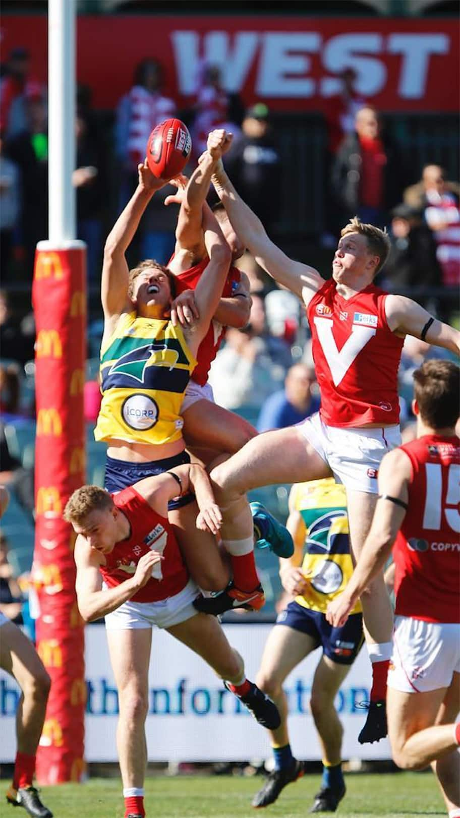 Action from Sunday's SANFL clash. Picture: @SANFL_official Instagram - AFL,SANFL