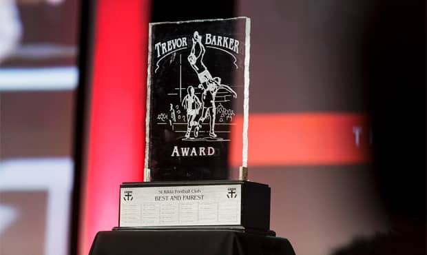 Who's your tip to take out the 2018 Trevor Barker Award? - St Kilda Saints