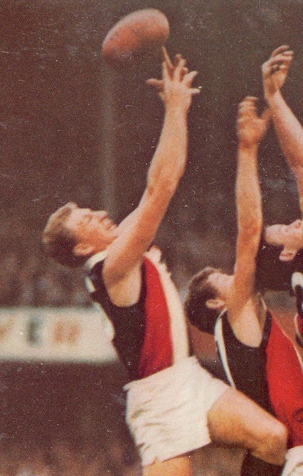 An atrocious winter's day and a disappearing footy formed the recipe for a famous St Kilda win against South Melbourne. - St Kilda Saints,South Melbourne