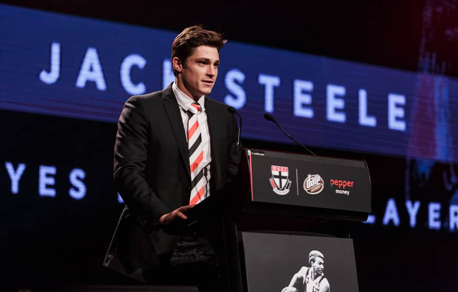 Jack Steele is in the running for back-to-back Lenny Hayes Players' Player Awards. - St Kilda Saints