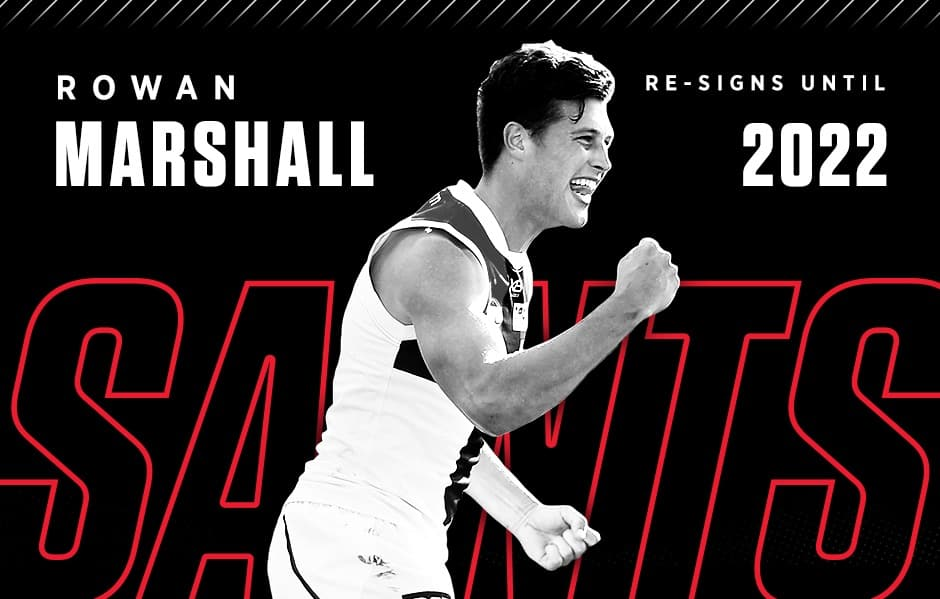 Exciting prospect Rowan Marshall is set to stay a Saint, signing a new three-year deal. - St Kilda Saints,Rowan Marshall