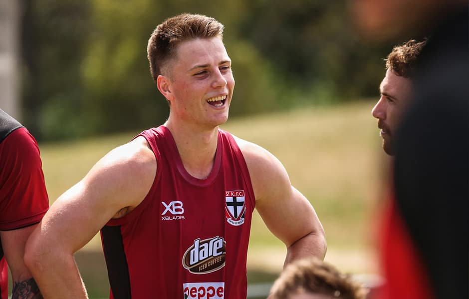 After 13 games for Sandringham in 2018, Doulton Langlands has his eye on an AFL debut.  - Doulton Langlands
