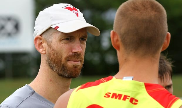 Henry Playfair has joined the Saints as assistant coach. (photo source - sydneyswans.com.au)