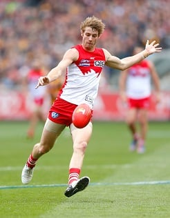 Alex Johnson's last AFL game was against Hawthorn in the 2012 Grand Final.