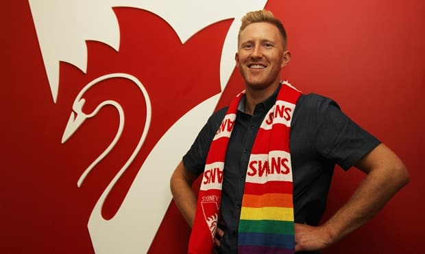LGBTI and mental health advocate Jason Ball dropped by the SCG on Friday.