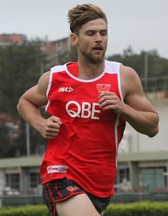 Dane Rampe was among the best performers during the running blocks on Monday.