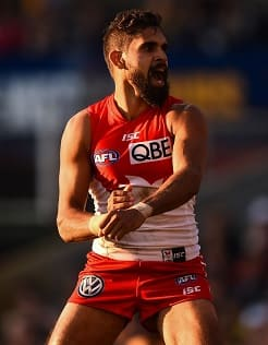 Lewis Jetta performs a war dance against the Eagles.