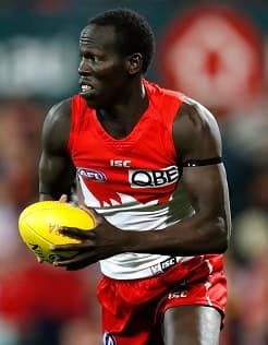 Aliir Aliir in action during his breakthrough 2016 season.