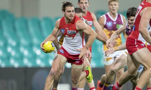 Jordan Foote in action during the Sydney Swans NEAFL Grand Final against Brisbane.