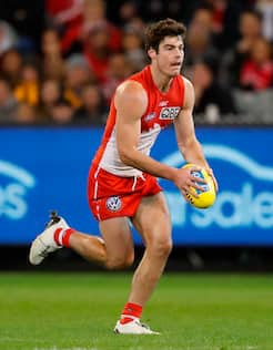 George Hewett is settling into his role as a lock down midfielder for the Swans.