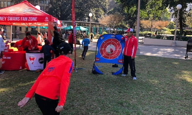 The Sydney Swans and AFL NSW/ACT hosted a series of fun activities at NAIDOC in the City on Saturday.
