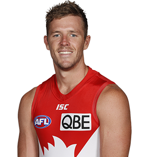 Luke Parker of the Sydney Swans