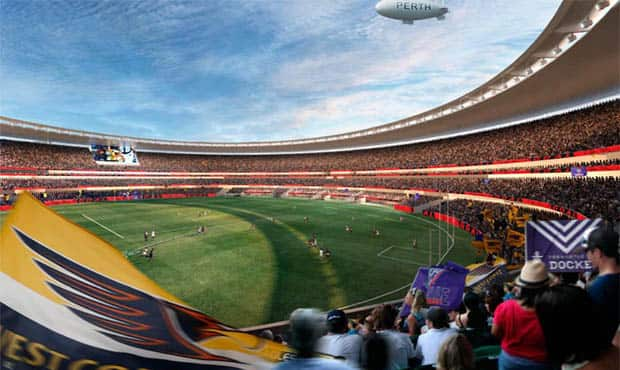 An artist's impression of the new Perth Stadium