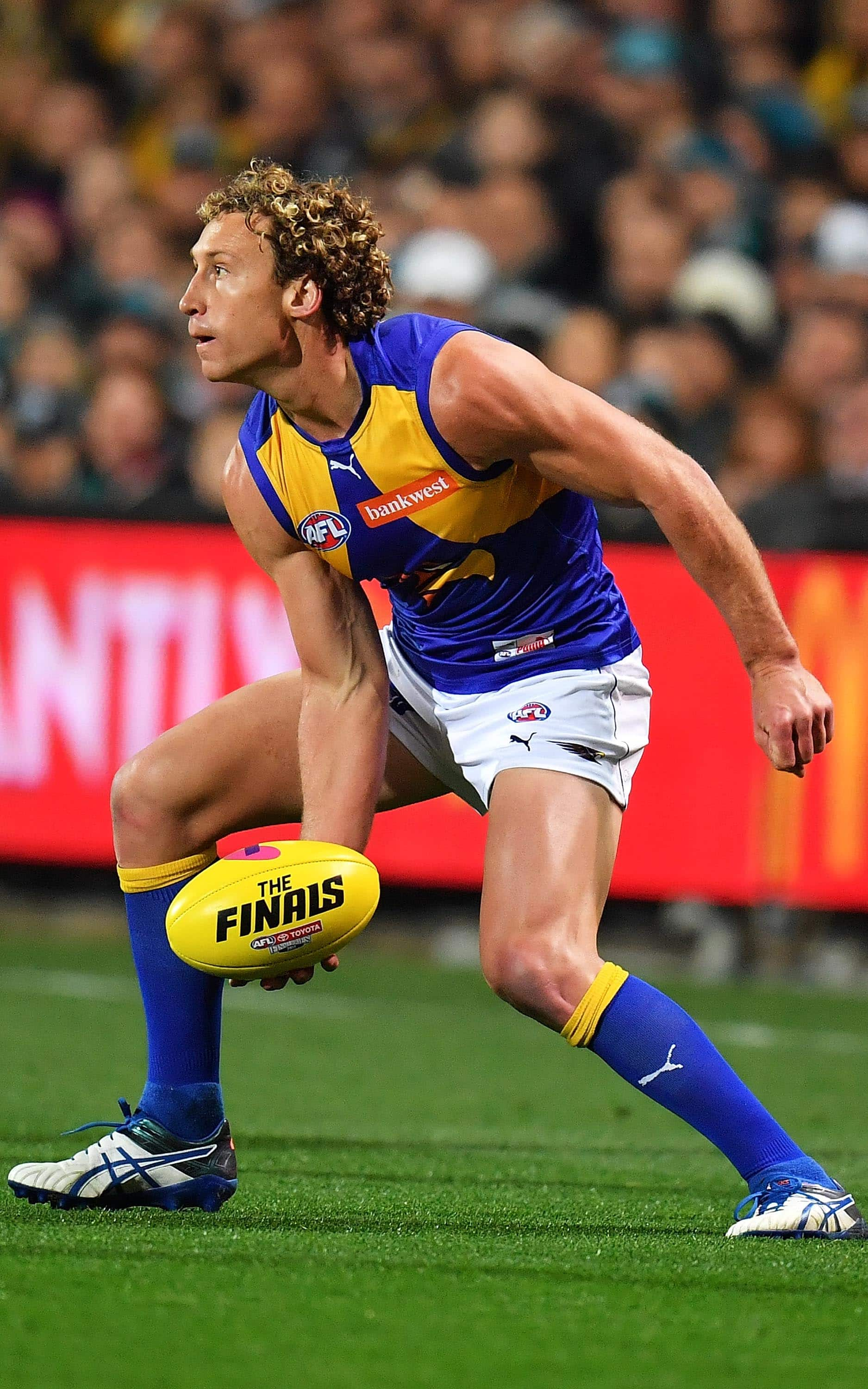 Matt Priddis amassed 33 disposals, 17 contested possessions, 10 tackles and a timely goal against the Power