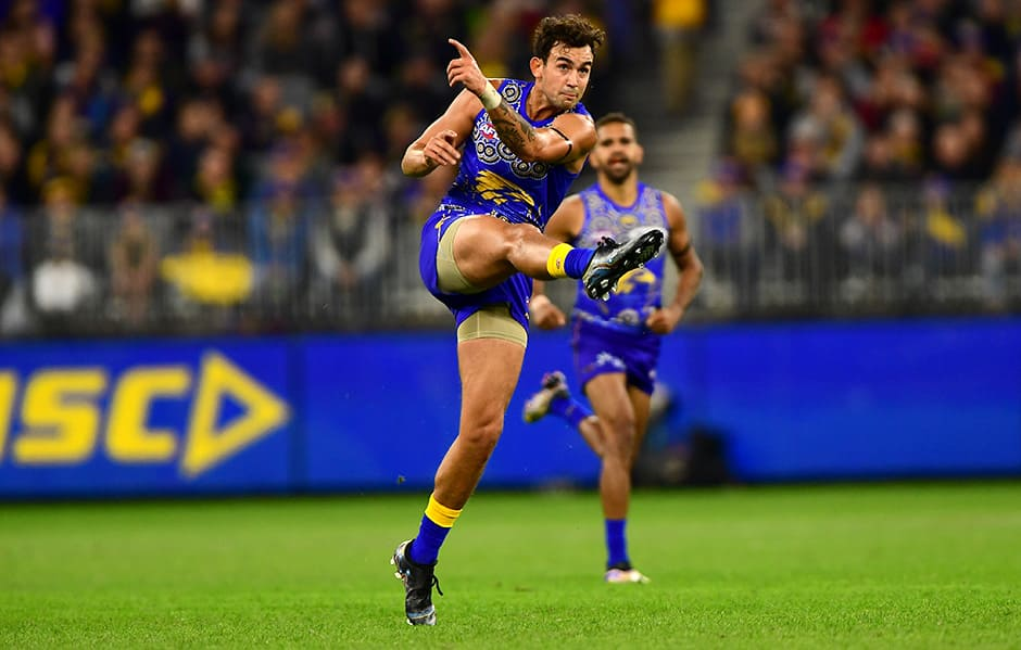PERTH, AUSTRALIA - JUNE 02: during the 2018 AFL round 11 match between the West Coast Eagles and the St Kilda Saints at Optus Stadium on June 02, 2018 in Perth, Australia. (Photo by Daniel Carson/AFL Media)